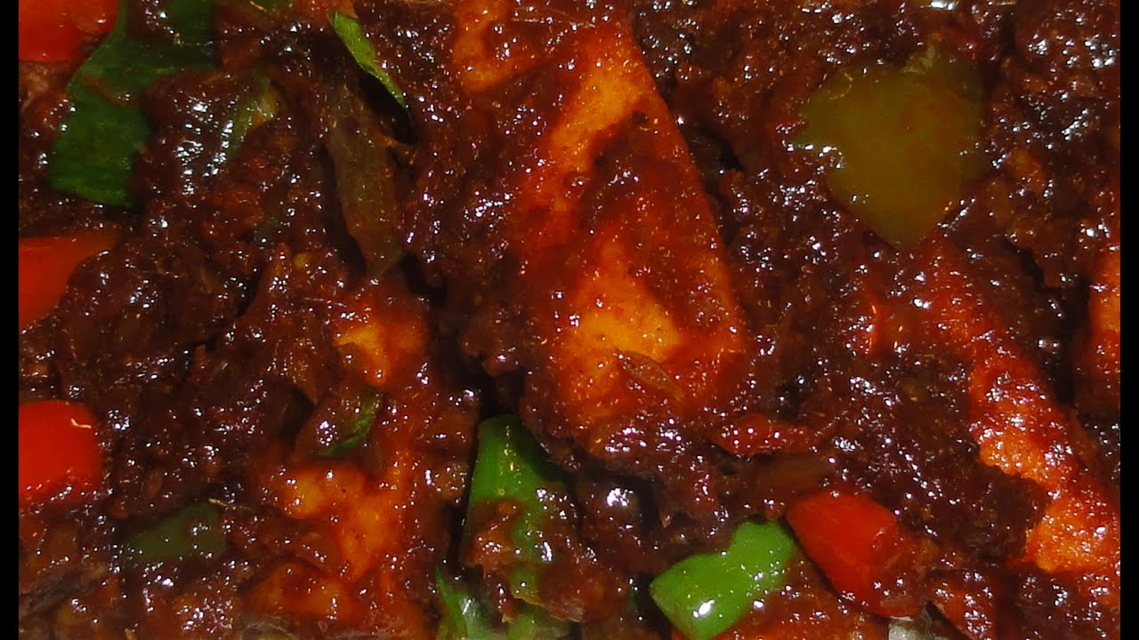 Chilli Paneer Vegetarian Recipe A Milder But Very Tasty Version