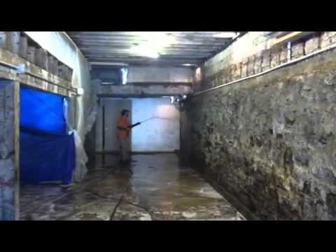Pressure washing concrete basement youtube for Basement concrete cleaner