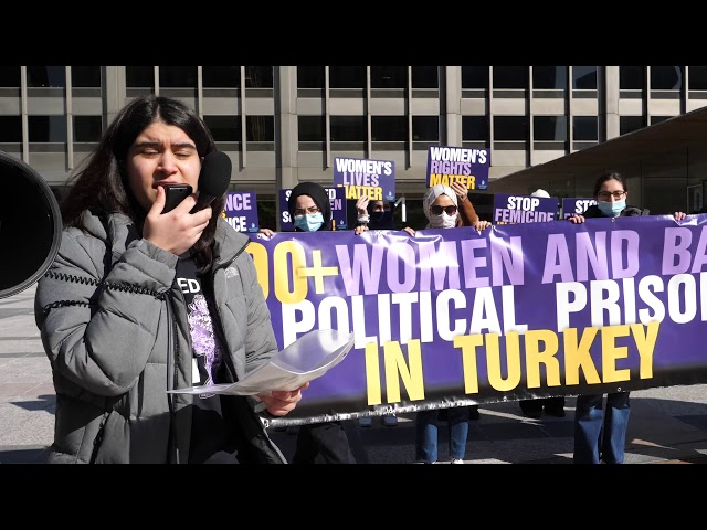 Protest for Women Rights in Turkey,  Huddled Masses, Chicago, 2021