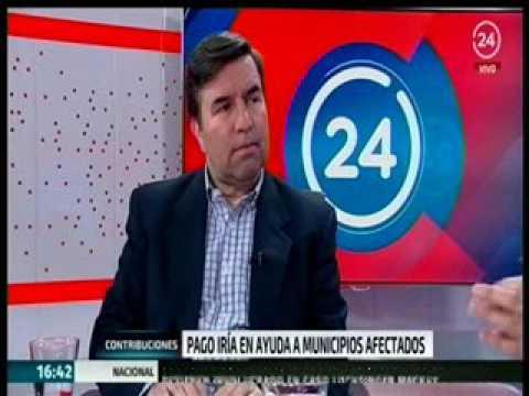 Entrevista a Tesorero General, Hernán Frigolett, en  24 horas TVN