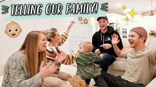 TELLING OUR FAMILY WE ARE HAVING A BABY!
