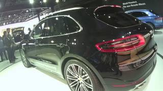 2014 PORSCHE MACAN S mid size SUV at the LA AUTO SHOW with Saturn