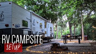 How To Setup Your RV Campsite! RV for beginners