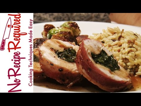 Bacon Wrapped Stuffed Chicken Breast - NoRecipeRequired.com
