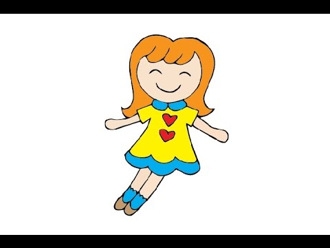 How To Draw A Doll Easy Step By Step Kak Narisovat Kuklu Youtube