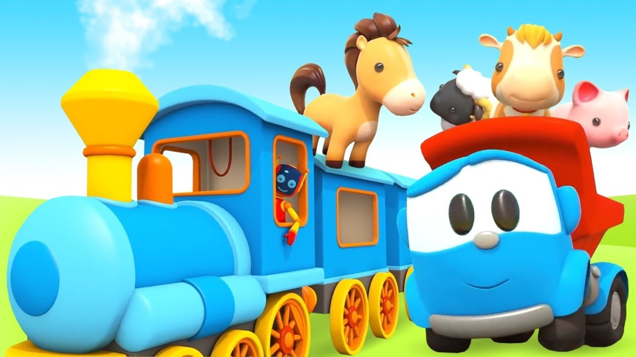 Leo the truck cartoon and Train for kids! Cartoon Vehicles for kids.
