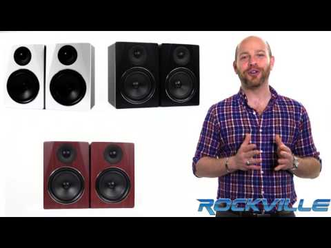 "Rockville APM6 6.5"" 2-Way 350W Active/Powered USB Studio Monitor Speakers Pair"