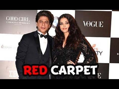 Shah Rukh Khan and Aishwarya Rai walk the red carpet | Vogue Women of the Year awards 2017 | Chillx