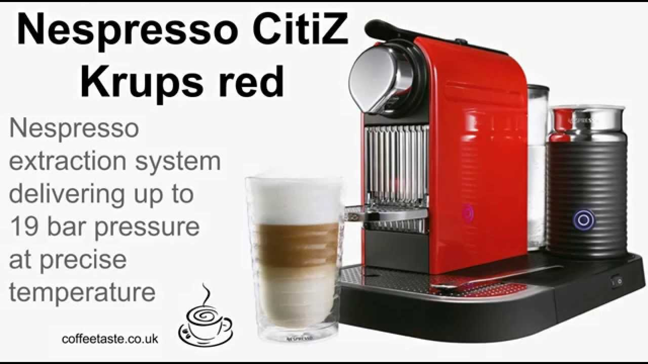 nespresso citiz krups red uk coffee machine review youtube. Black Bedroom Furniture Sets. Home Design Ideas