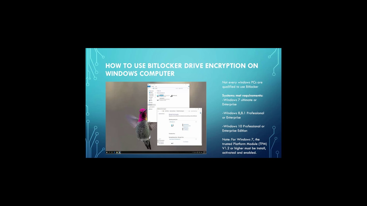 How to use BitLocker Encryption on your PC/External Drive
