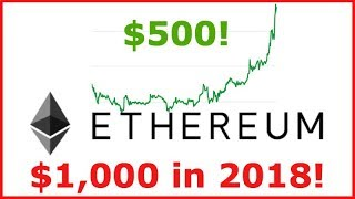 Ethereum (ETH) Price on the rise to $500 - Why the Increase & 2018 Price Prediction!