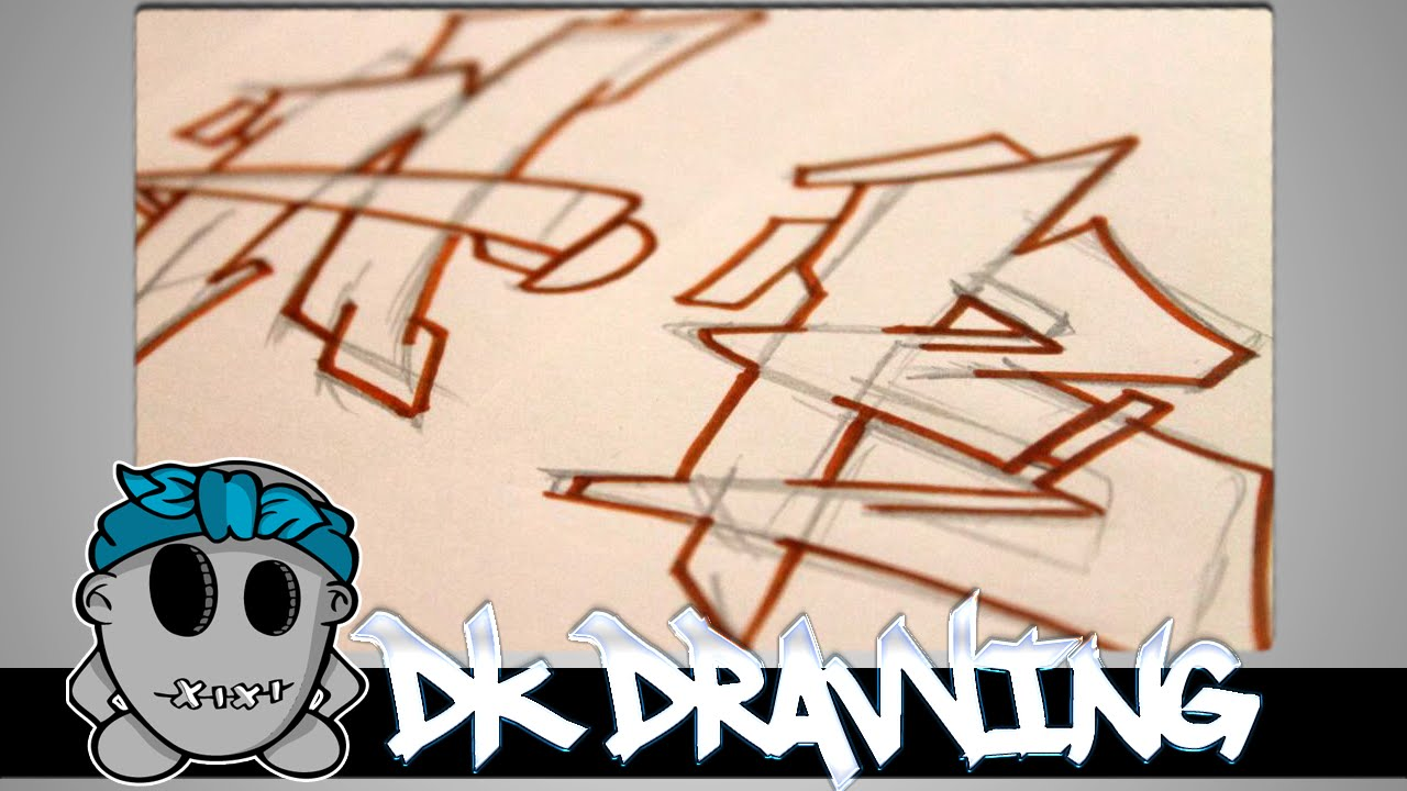 Graffiti Tutorial For Beginners How To Draw Cool Letters A B Youtube
