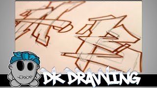 Graffiti Tutorial for beginners - How to draw cool letters A&B