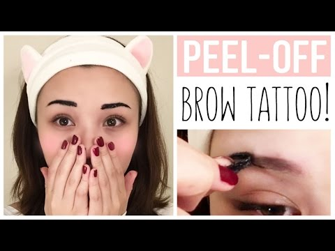 peel off eyebrow tattoo etude house product review youtube