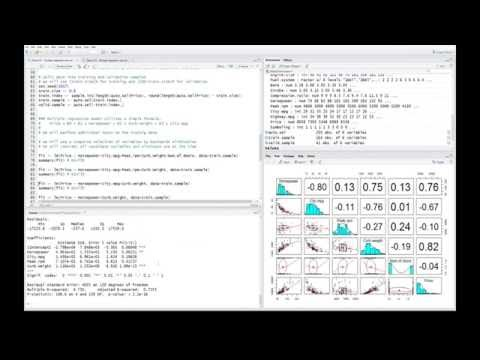 R Stats: Multiple Regression - Variable Selection