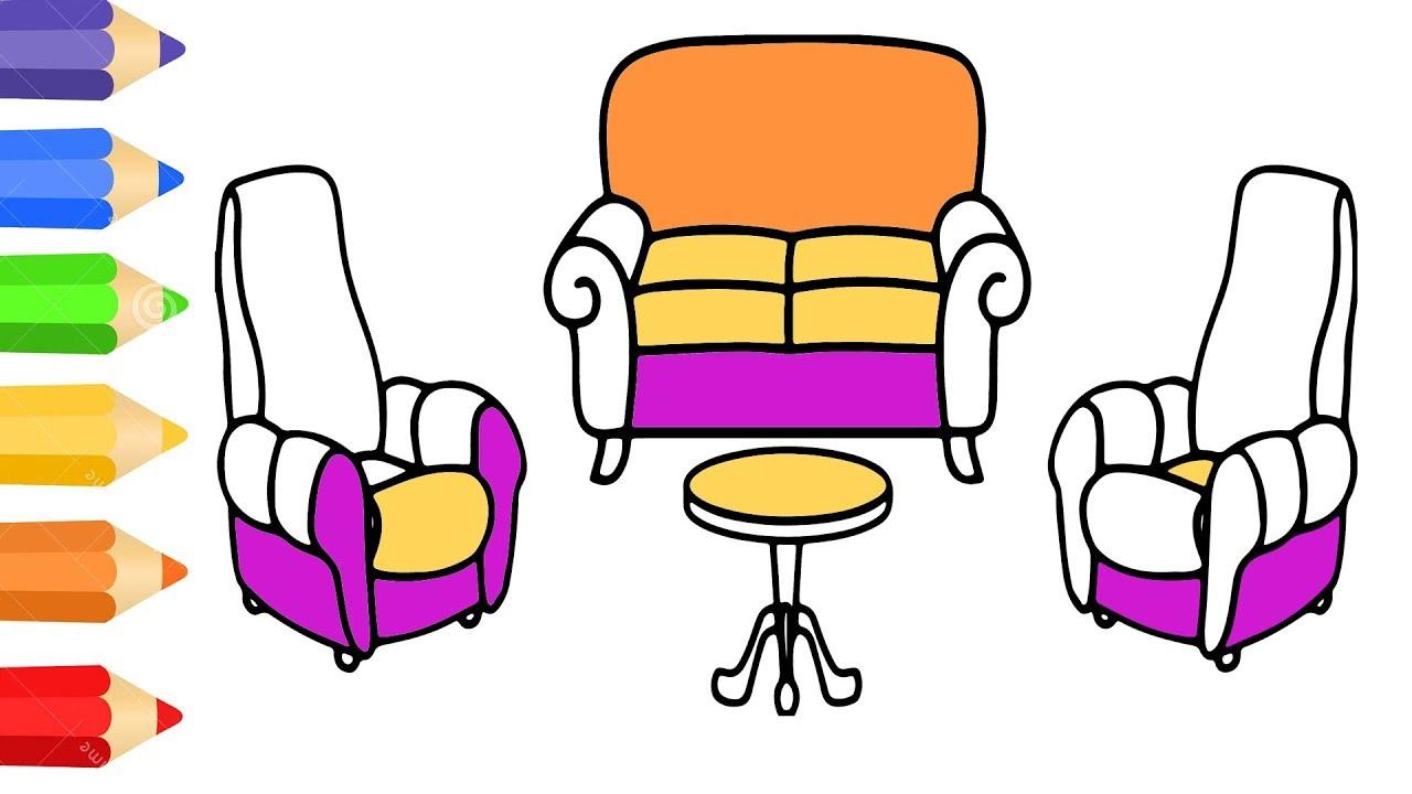 How To Draw Sofa Set Family