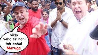 Kapoor Famly FIGHTS With Reporters & Shows ATTITUDE During Ganesh Visrjan Except Ranbir Kapoor