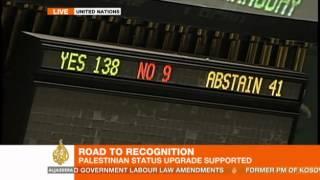 UN recognises Palestine as non-member state