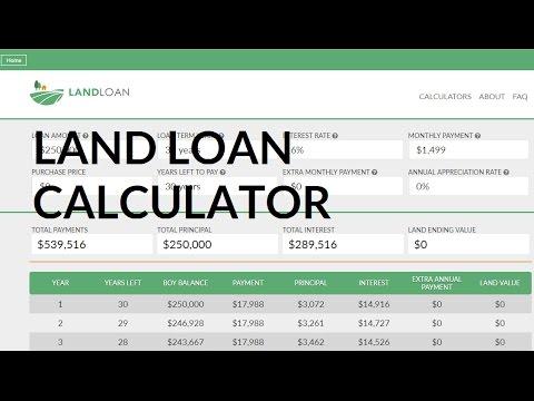 Loan Calculator for Buying Land | Land Loan Calculator