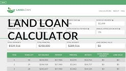 Loan Calculator for Buying Land | Land Loan Calculator