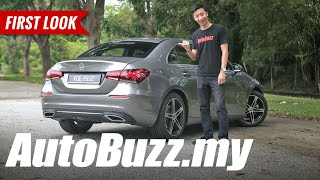 Mercedes-Benz A200 Sedan First Look - AutoBuzz.my
