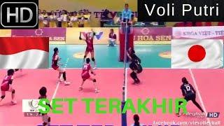 Video SET Terakhir VOLI PUTRI Indonesia vs Japan  VTV Cup  2017  FULL HD download MP3, 3GP, MP4, WEBM, AVI, FLV Oktober 2018