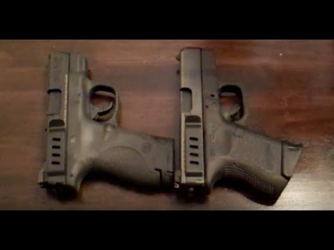 S&W M&P Shield and Glock 27 Side by Side Comparison