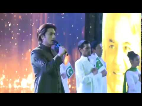 Ali Zafar sings the National Anthem of Pakistan !