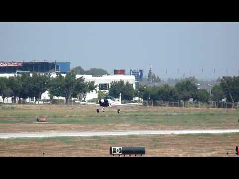 N5703L, Grumman American AA-1 Take-off # 2 from Brackett Field KPOC on 9/12/09 at 1741