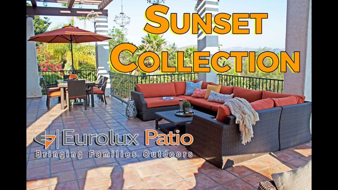 Superbe Sunset Outdoor Patio Wicker Furniture Sectionals U0026 Dining Set. Eurolux Patio