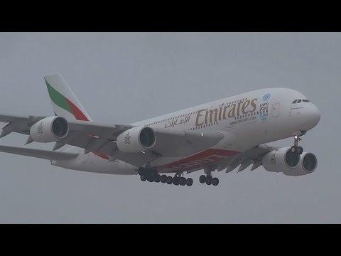 A380 Emirates EXPO DUBAI 2020 UAE Livery landing at AMS Schiphol
