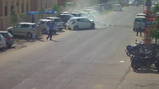 Accident near pdm university on 20th September 2018