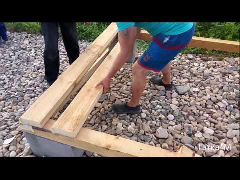 видео: Строительство простого хозблока