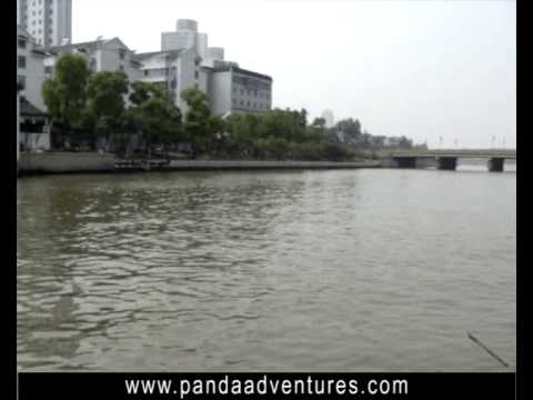 Boat trip on Grand Canal in Suzhou, China