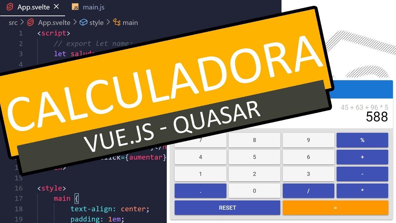 Calculadora [JavaScript + Vue.js 3 + Quasar]