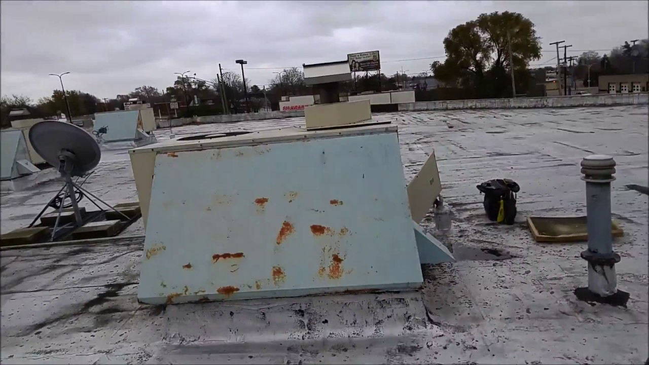 Old Roof Top Unit With A Cracked Heat Exchanger Youtube