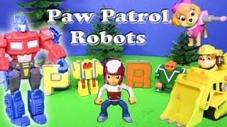 PAW PATROL Nickelodeon Paw Patrol Transformers Letters a Paw Patrol Video Parody