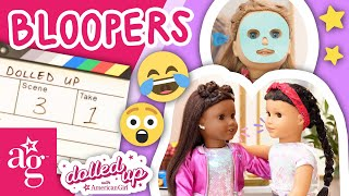 Best Dolled Up Back To School BLOOPERS! SPECIAL CLIP!   Dolled Up @American Girl