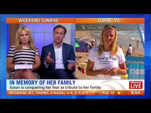 Sunrise TV National Cross | Susan Berg | Facing Her Fears | GMHBA Lorne Pier to Pub