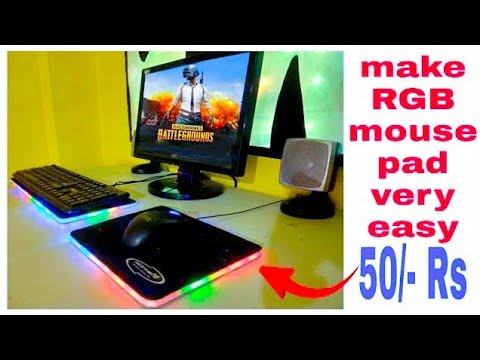 Make RGB mouse pade and keyboard pad very easy
