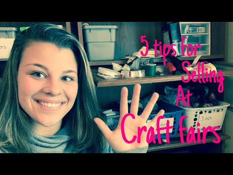5 tips for selling at craft fair for beginners