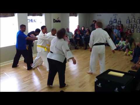 Bridges Martial Arts - RiverBend Academy Demonstration - Breaking