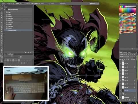 comic book coloring tips and tricks episode 08 shortcuts - Comic Book Coloring