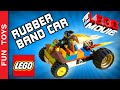 DIY - Lego Movie Rubber Band Powered Car - Uma Aventura Lego Carro Movido a Elástico Faça Você Mesmo: In this video we show how to build a rubberband powered Lego car. It works like those cars that when you pull back and let go, they go forward really fast! We have created the car for Emmet and Wyldstyle from Lego Movie! And you? What car will you create?  BUY Lego Movie Toys on this link: http://bit.ly/LegoMovieToys  Comment below how you are thinking in building your car! Colorful? Racing car? With wings? Tell us all in the comments!  Please help our channel to grow: share the video, like it and subscribe to our channel: https://www.youtube.com/channel/UCVOq9DX3BL9bBU9FrG5MpMA?sub_confirmation=1   ✦ PORTUGUÊS: Neste vídeo ensinamos como montar um carrinho movido à elástico com peças de Lego. Ele funciona como os carrinhos de pressão, aqueles que quando você puxa para trás e solta, ele segue para frente com velocidade! Nós criamos um carrinho para o Emmet e a Megaestilo do Lego Movie – Uma Aventura Lego. E vocês? Que carrinho irão criar?  Compre brinquedos Lego Movie neste link: http://bit.ly/LegoMovieToys  Comente como você imagina que vai ser o seu carrinho! Colorido? De Corrida? Com Asas? Conte tudo nos comentários abaixo!  Ajude nosso canal a crescer: compartilhe o vídeo, de um joinha e se inscreva no canal: https://www.youtube.com/channel/UCVOq9DX3BL9bBU9FrG5MpMA?sub_confirmation=1   FOLLOW US / SIGA-NOS:  ✦Subscribe: https://www.youtube.com/channel/UCVOq9DX3BL9bBU9FrG5MpMA?sub_confirmation=1 ✦Twitter: https://twitter.com/FunToysBrinque ✦Google+: https://goo.gl/QVmgp0 ✦Instagram: https://instagram.com/fun_toys_brinquedos/ ✦Blog: http://festadeideias.com.br/Fun_Toys_Brinquedos/ ✦Facebook: https://www.facebook.com/Fun.Toys.Brinquedos.YT    ✦BONUS: - See how cool