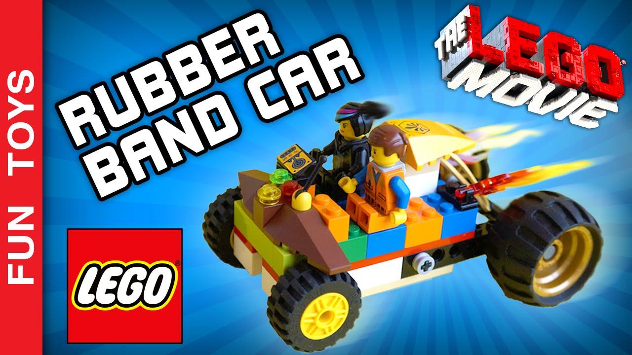 Diy Lego Movie Rubber Band Powered Car Uma Aventura