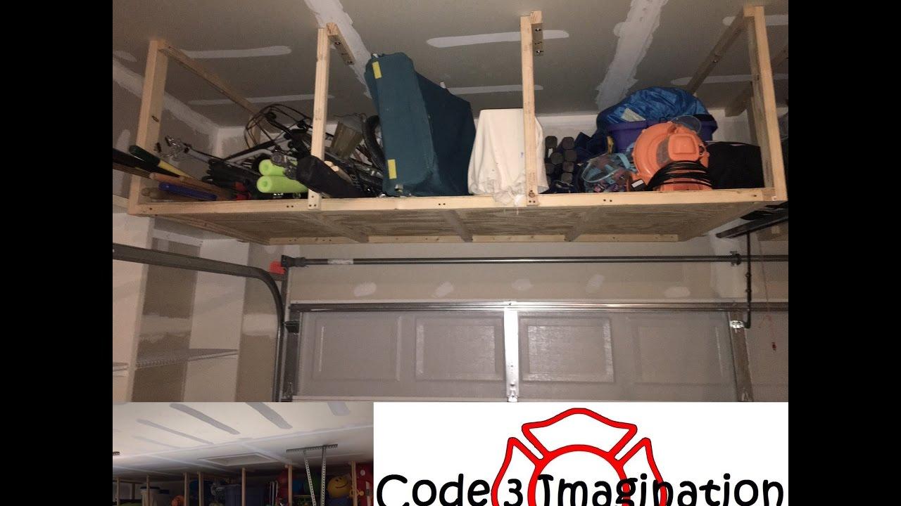 Over the Garage Door Wood Storage Shelves - YouTube Over Garage Door Storage on storage over kitchen cabinets, storage over heater, storage over window, storage over sink, storage over refrigerator, storage over dryer, storage over porch, storage over microwave,