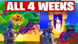 FORTNITE : SEASON 8 WEEK 1 TO 4 SECRET BATTLE STAR AND SECRET BANNER IN LOADING SCREEN (ALL WEEKS)