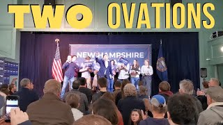 Andrew Yang Gets 2 STANDING OVATION At Q&A in Exeter, NH, Feb 6, 2020