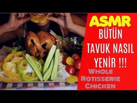 Türkçe ASMR | Kızarmış Bütün Tavuk (Barbekü Soslu)  | Whole Rotisserie Chicken | ASMR No Talking