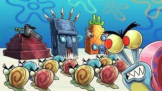 Minecraft | EVIL GARY THE SNAIL BASE CHALLENGE! (Base vs Spongebob)